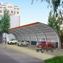Beautiful and cool steel structure public car shed