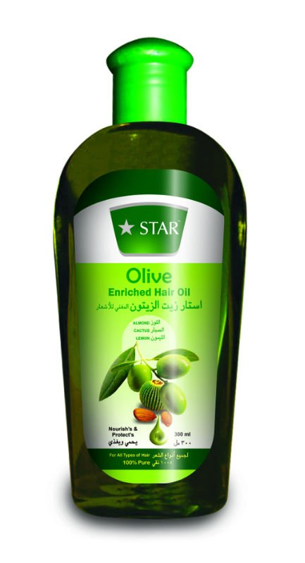 Olive Hair oil with Almond Cactus Lemon