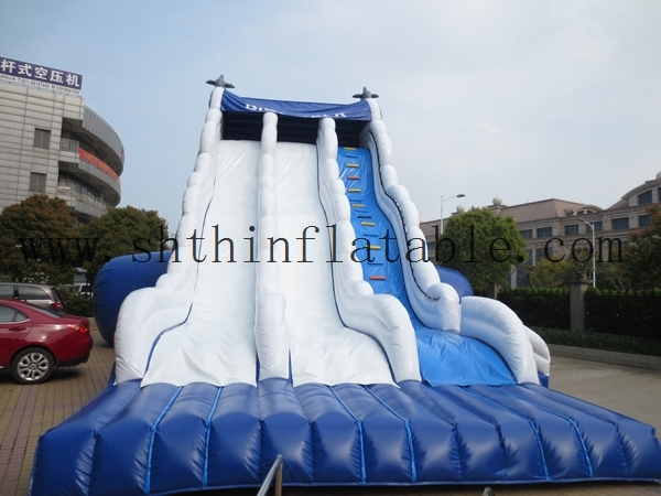 popular newest giant dolphin inflatable slide for kids and adults