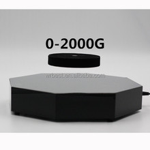 Octagon Shape Stainless Steel Bottom magnetic levitation display for 0-2000g