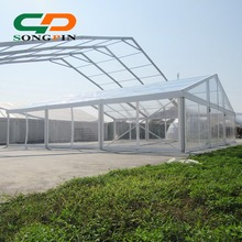 clear span marquee tent 15X40m with transparent roof cover and sidewalls for 500 people outdoor wedding party events