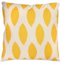wholesale plain design yellow chair seat throw pillow case heat transfer printing vintage cotton cushion cover with washable