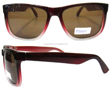 Simple C.P injection plastic women high quality customize wine red frame sunglasses made in China
