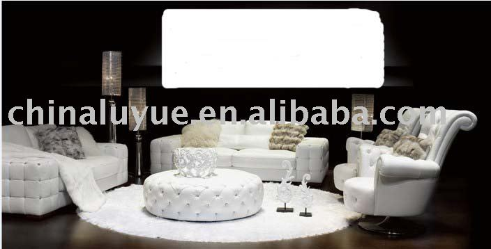 white sectional sofa S8650