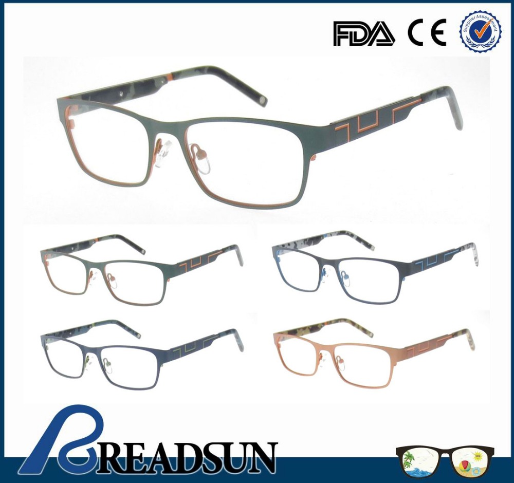 Stylish Stainless Steel colorful acetate Optical Frame