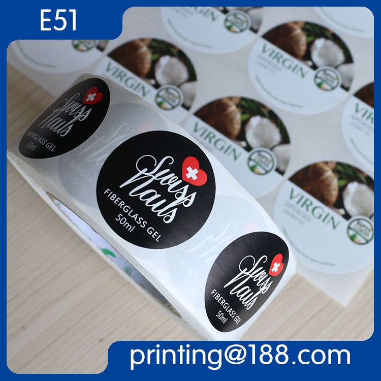 Custom Offset Printed Roll Peel Off Label, Labels For Food Container, Roll Vinyl Sticker
