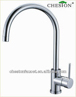 Simple chrome bamboo kitchen faucet