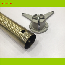 bronze plating steel table leg round 60 mm