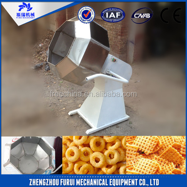 Stainless steel industrial popcorn flavoring machine/potato chips flavor seasoner machine