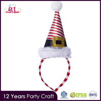 Party City Mini Santa Hat Headband For Christmas Gift & Craft