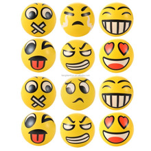 Emoji Face Squeeze Balls, Soft PU Relieve Stress Novelty Relax Toys