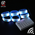 Hot selling Customized Logo Promotion Wholesales Wireless Remote Controlled Rgb Led Bracelet