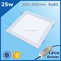 high brightness low prices RA>80 25w 12 inch square 30x30 cm Guangzhou led panel light