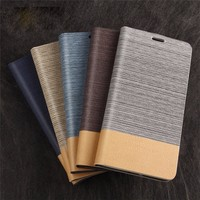 Business Ultra thin Jeans Canvas PU Leather Flip Cover With Card Holder case For LG K7