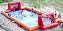 Hot cheap inflatable soap football court for sale Z5036