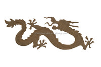 Trade assurance animal shape carved art craft decoration wooden dragon