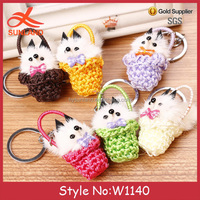 W1140 New acrylic keychain maker keychain material custom embroidered keychain