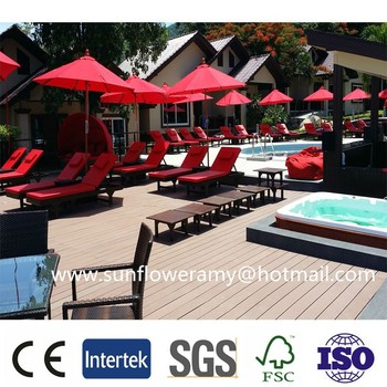 2015 durable eco-friendly outdoor wood plastic composite wpc decking factory price