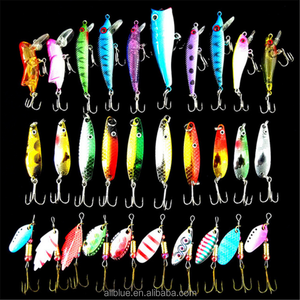Allblue Fishing Lure Set 30pcs Minnow Popper Spinner Spoon Metal Lure Iscas Artificial Bait Fishing Lure Kit Isca Artificial