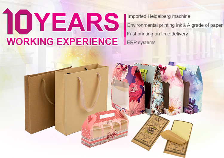 Customized design high quality color recycled kraft paper jewellery gift box