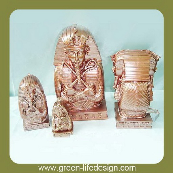 Goldplate egyptian statue for sale