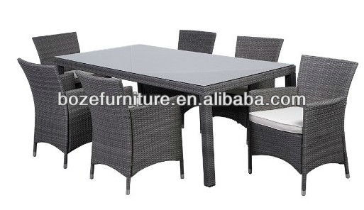 Hot sale!! PE Rattan dining table and chair indoor and outdoor furniture