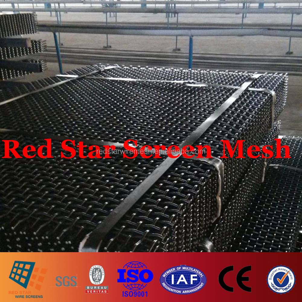 High Manganese and Crabon Steel Crimped Wire Mesh for Screening Gravel,Gabbor Aggregate