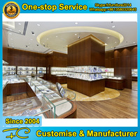 Glass jewelry display case and showroom display counter designs for jewellery showroom designs