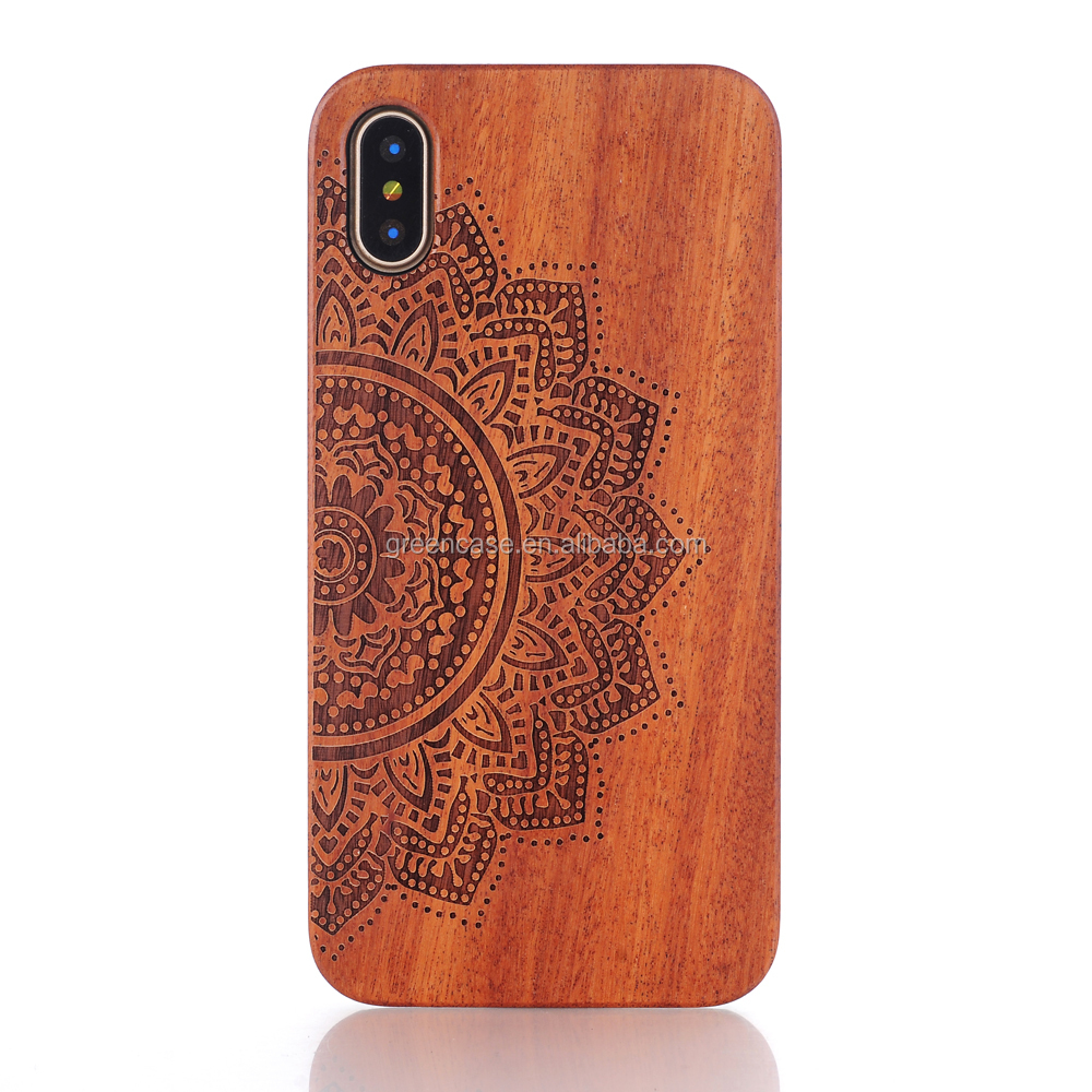 Fashion Wooden Material Engraving High Quality Wood <strong>Case</strong> for Iphone X