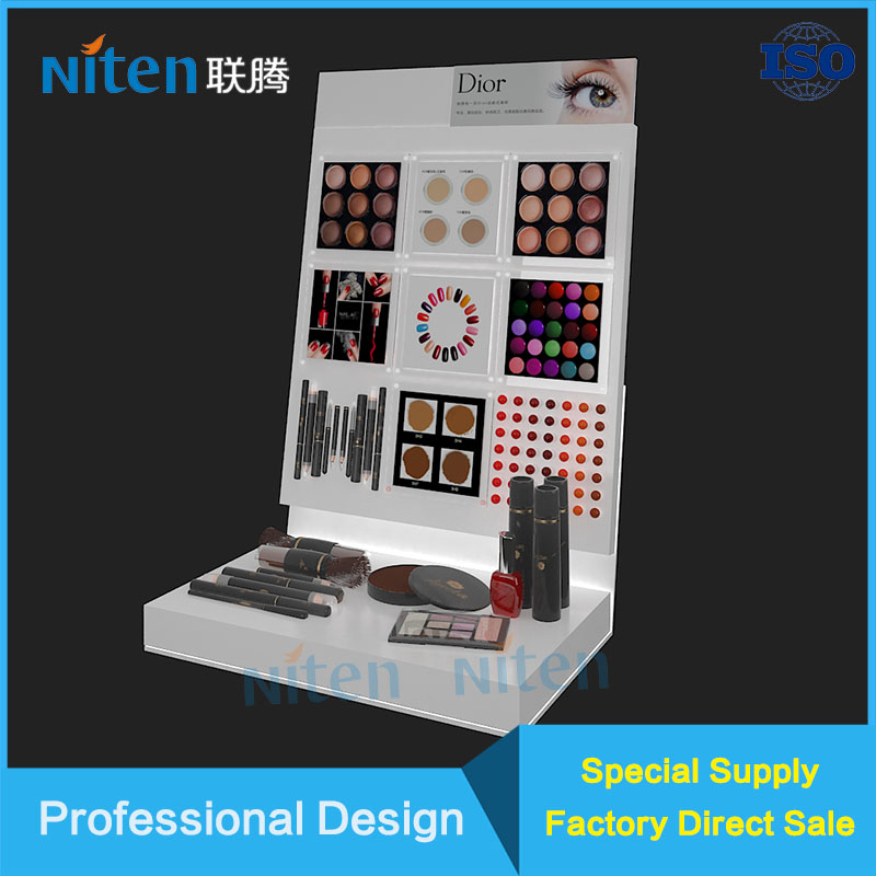 digital led LCD transparent clear makeup counter display