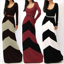 Custom design new fashion maxi cotton dress china factory long evening dress