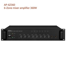 AP-6Z360 100V pa amplifier 360W mixer amplifier with built-in 6 zones for sound system