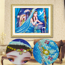 Newest Candle girl Special shaped stick drill painting 5D Diamond Embroidery DIY Needlework with Different accessories