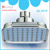 Novelty design ABS chrome plated 100*100mm overhead rainfall shower head