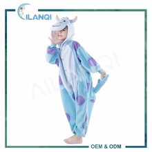 ALQ-C024 Customized polar fleece kids onesie sulley monster pajamas