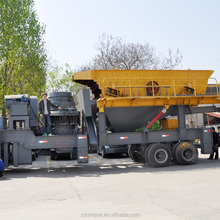 Mini movable portable mobile granite impact crushing equipment machine quarry rock stone primary jaw crusher plant price