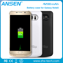 2016 wirless note 5 battery case For Samsung Galaxy S4 S5 S6 S6 Edge S7 S7 Edge from shenzhen supplier