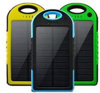 High quality Solar power bank T016 IP 6 waterproof 5000mah external battery cover with patent