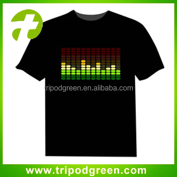 More than 1000designs DISCO dancing light up el shirt/ custom equalizer t-shirt /led music t-shirt