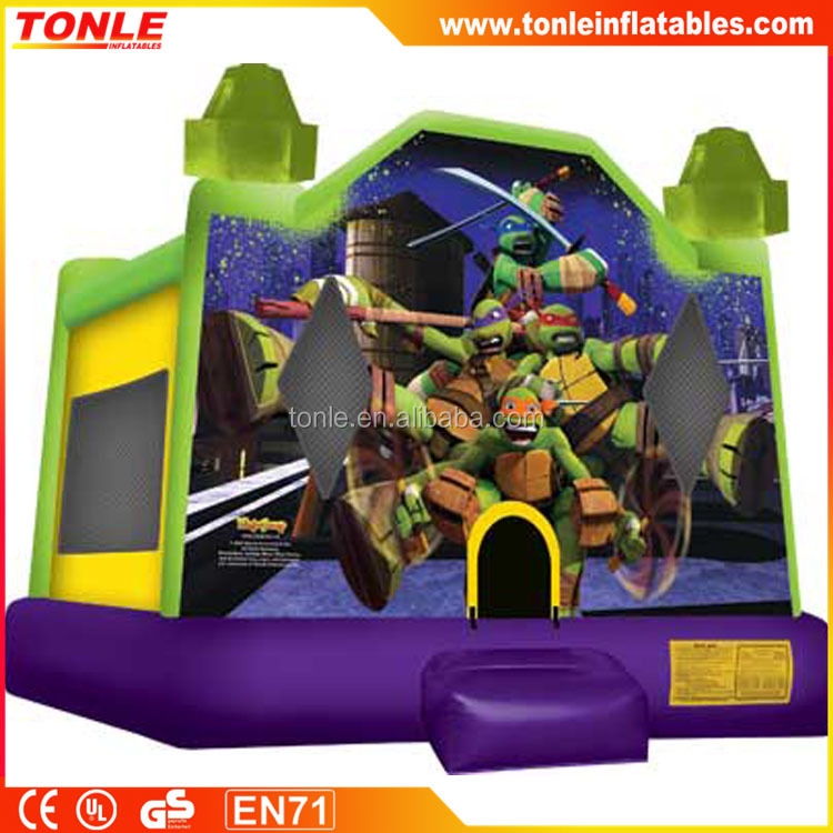 kids inflatable Teenage Mutant Ninja Turtles bouncy castle, commercial inflatable jumping house
