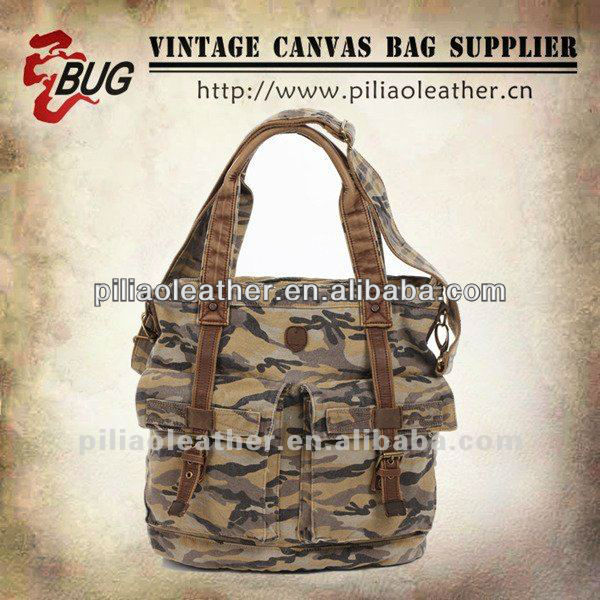 2013 New designer camouflage Military Canvas shoulder bags for woman With two handles