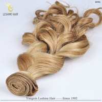 Hot Selling Direct Factory Top Quality No Shedding No Tangle Last Long Human Hair soft light jerry curl hair weave light brown