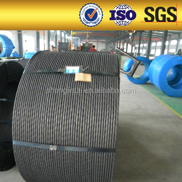 BS5896 ASTM 416 cable 1860Mpa prestressed strand for metal buiding materials factory