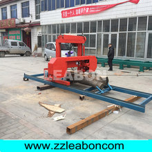 horizontal saw woodworking machine portable sawmill band machine wood cut