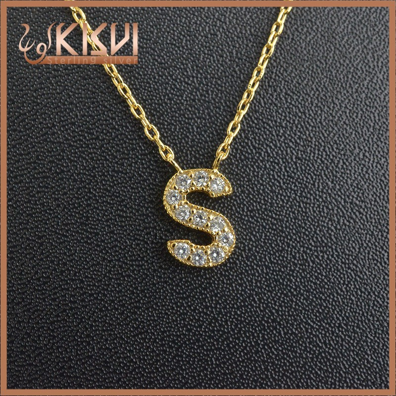 925 sterling silver gold and rhodium and rose gold necklace 16+2inch silver factory kisvi jewelry