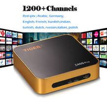 Tiger Z400 Pro Wholesale Price FullHD smart tv box satellite receiver with sim crad More Than 1200 Channels 1year kids mopvies