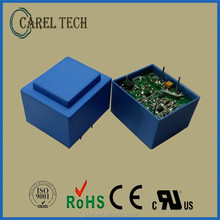 CE, ROHS approved PCB mounted 230V ac 9V dc transformer