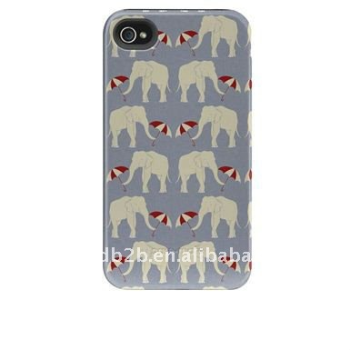 Elephants and Umbrellas color printing case for Iphone 4