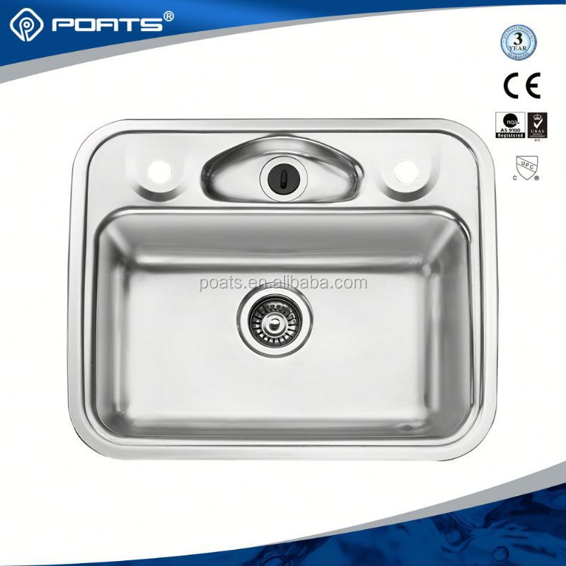 Advanced Germany machines factory directly saudi arabia 2 bowl stainless steel sink with drainer of POATS