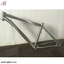 China supplier non-folding super light titanium mountain bicycle frame 26er
